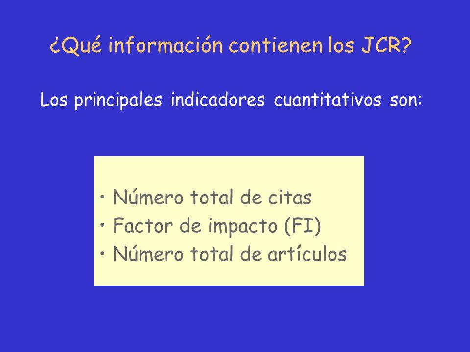 ¿Qué información contienen los JCR