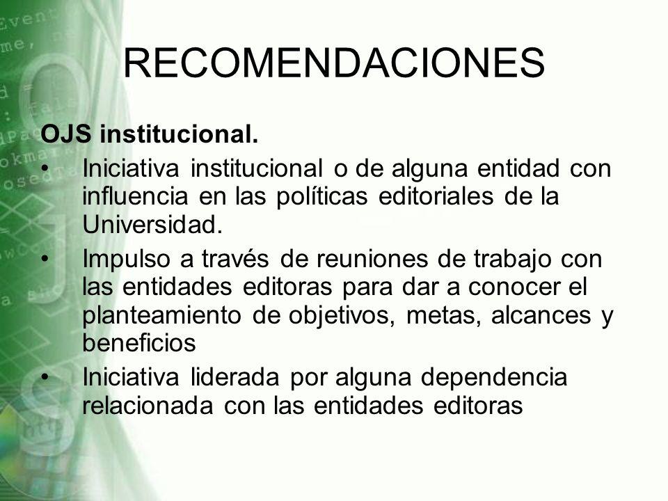 RECOMENDACIONES OJS institucional.