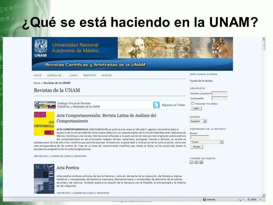 ¿Qué se está haciendo en la UNAM