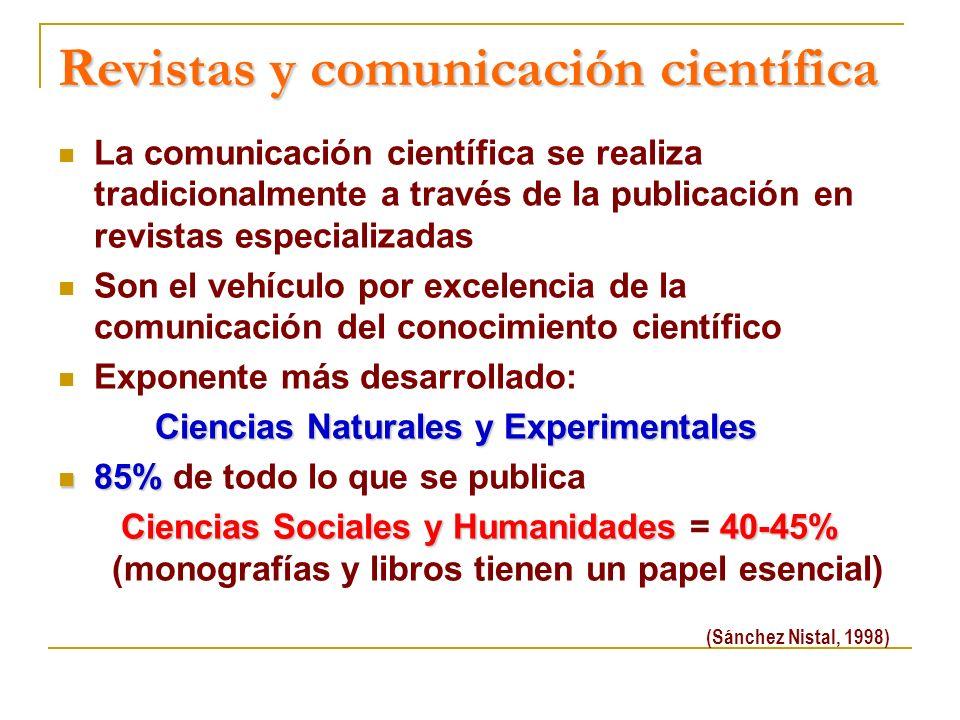 Revistas y comunicación científica