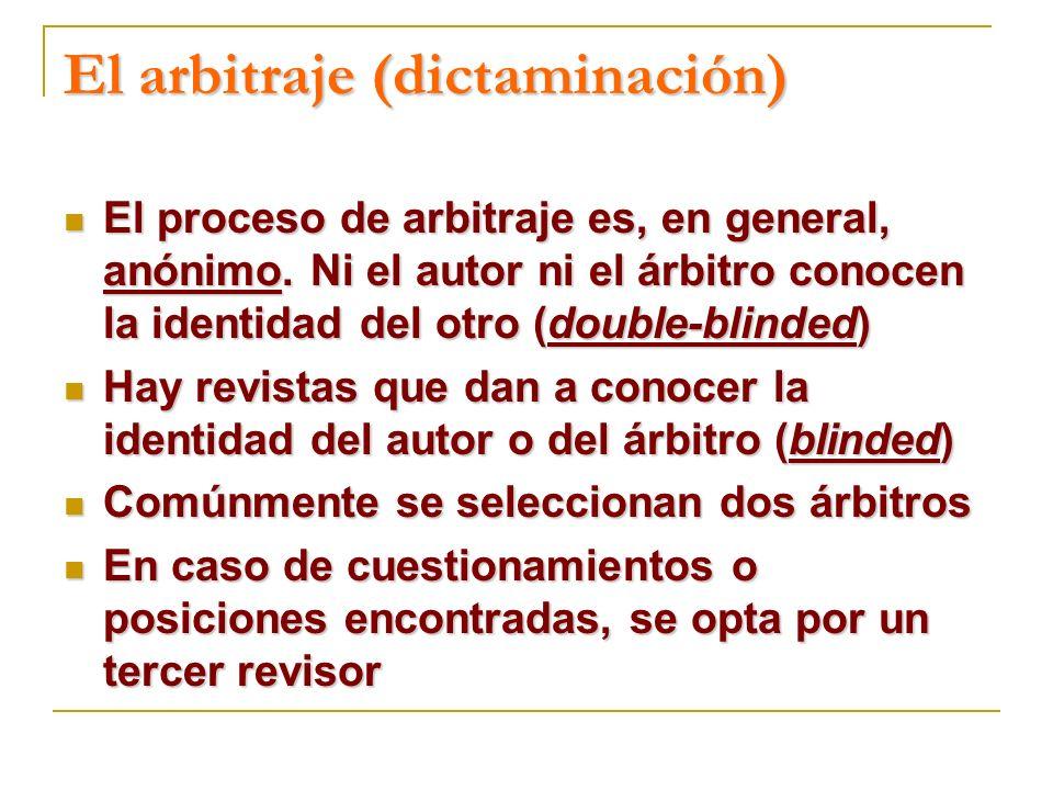 El arbitraje (dictaminación)
