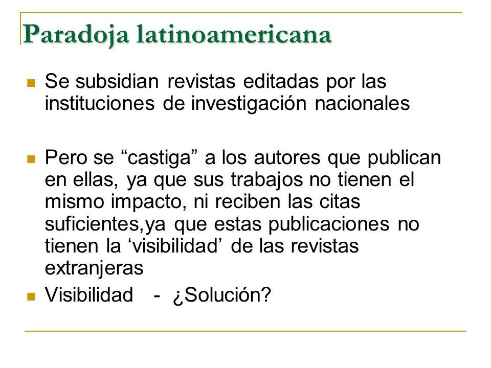 Paradoja latinoamericana