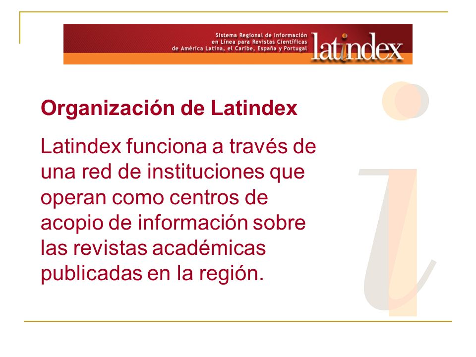 Organización de Latindex