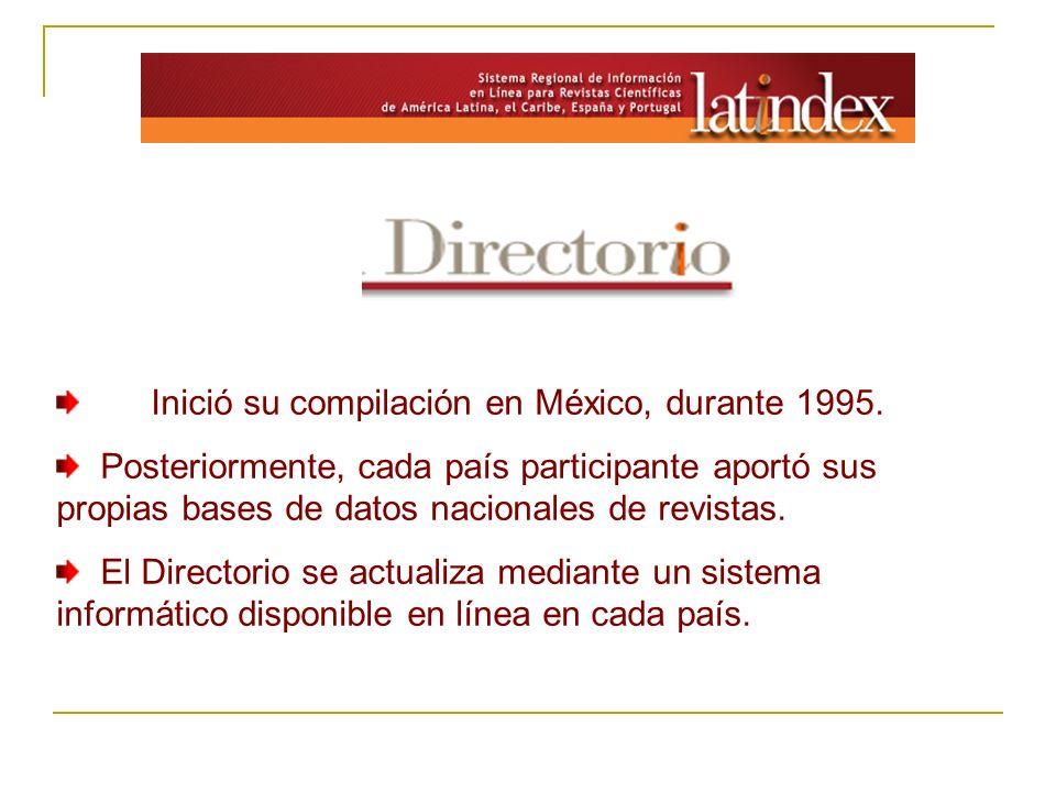 Inició su compilación en México, durante 1995.