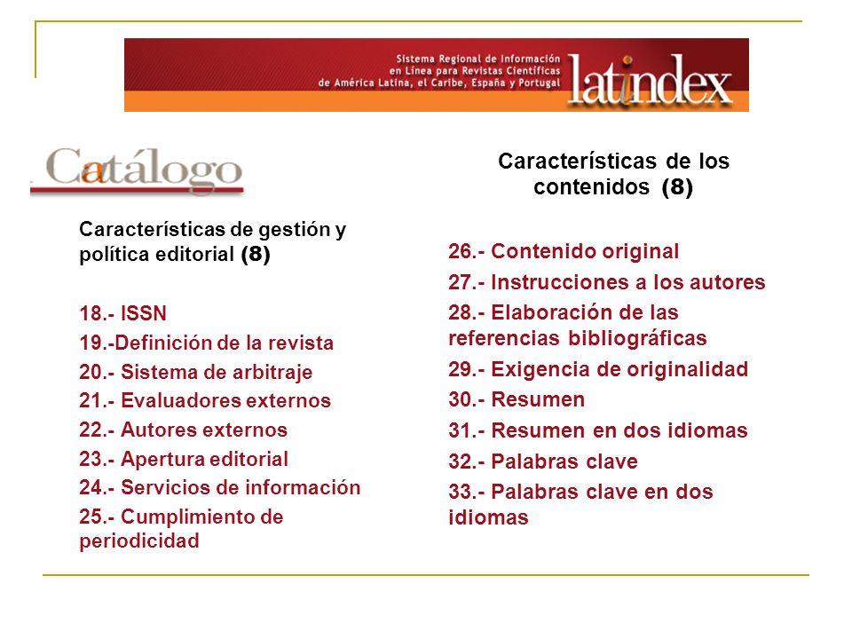Características de los contenidos (8)