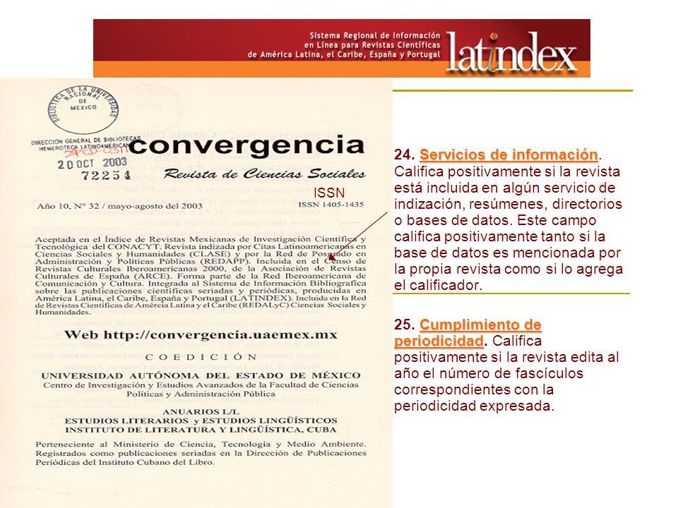 24. Servicios de información