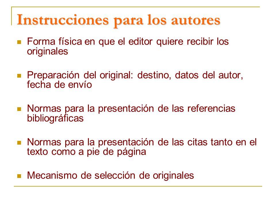 Instrucciones para los autores