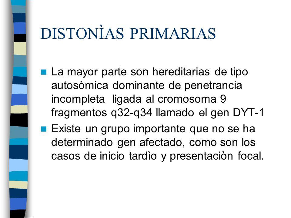 DISTONÌAS PRIMARIAS
