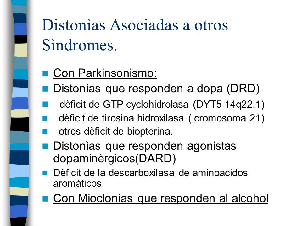 Distonìas Asociadas a otros Sìndromes.