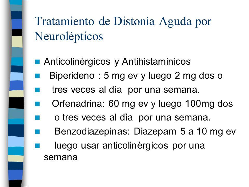 Tratamiento de Distonìa Aguda por Neurolèpticos