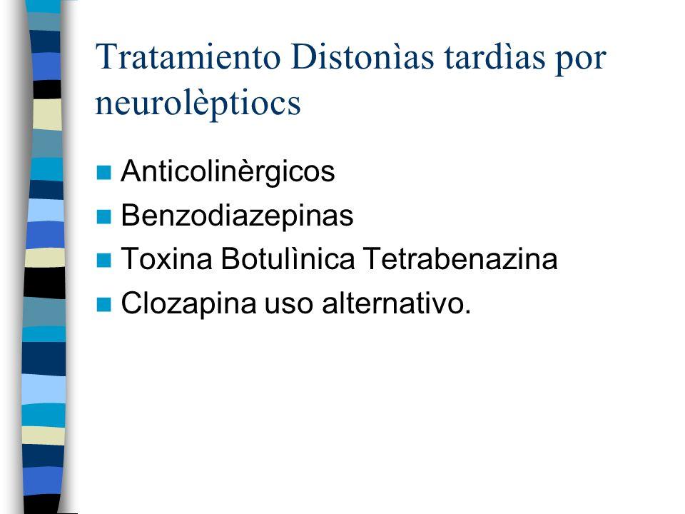 Tratamiento Distonìas tardìas por neurolèptiocs