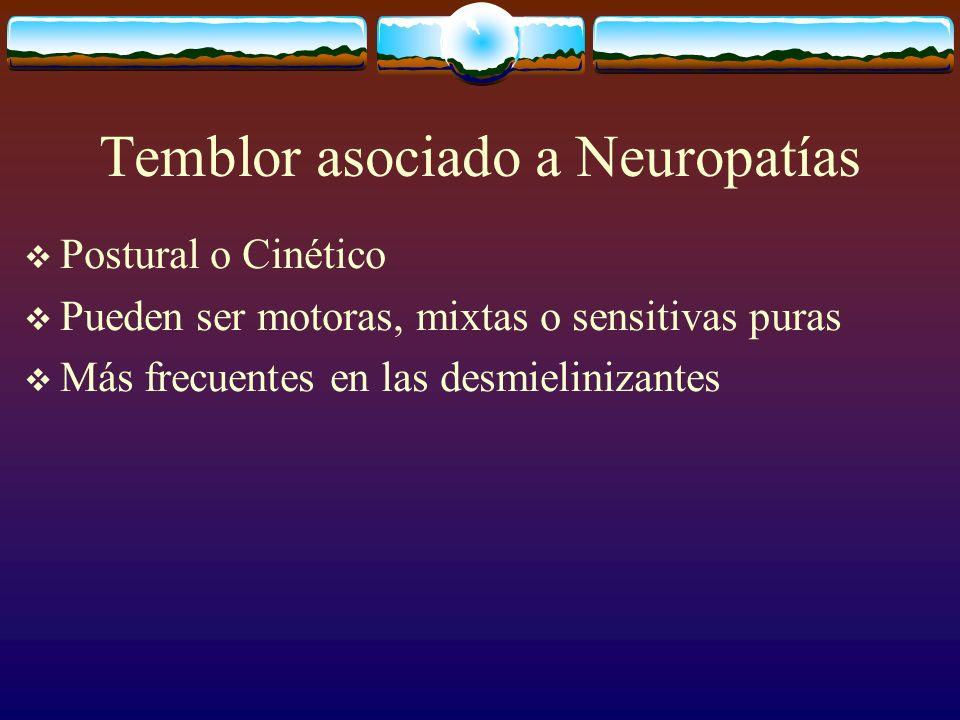 Temblor asociado a Neuropatías