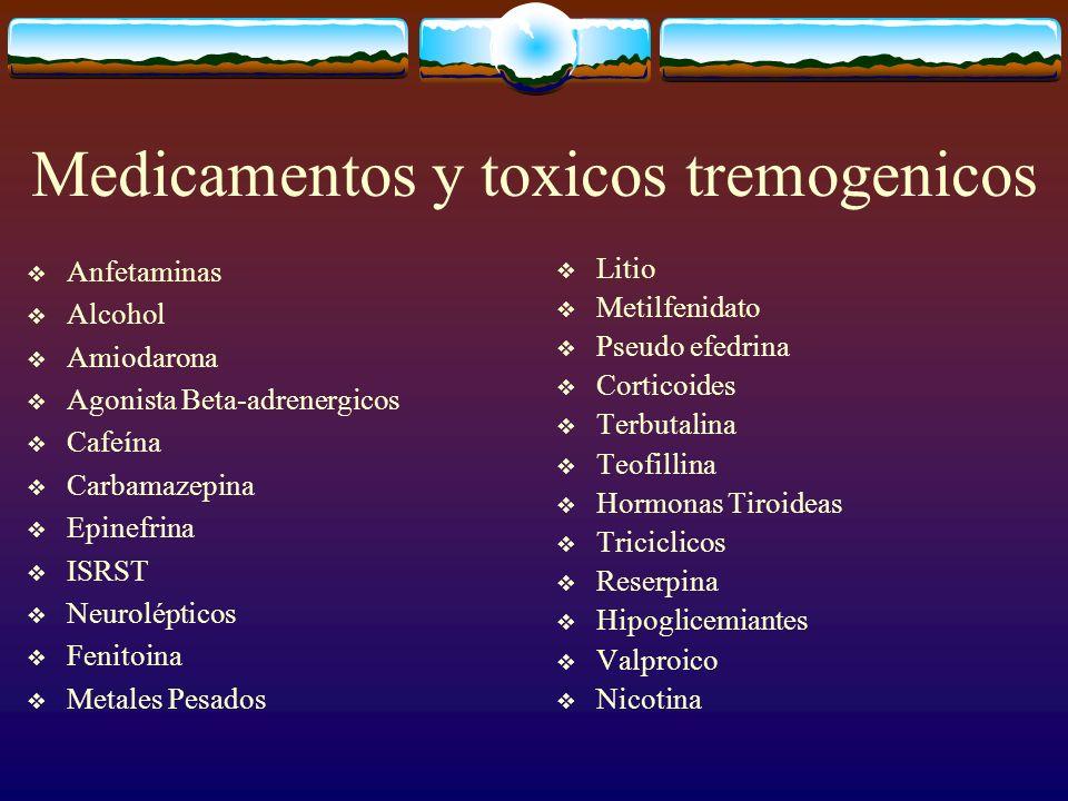Medicamentos y toxicos tremogenicos