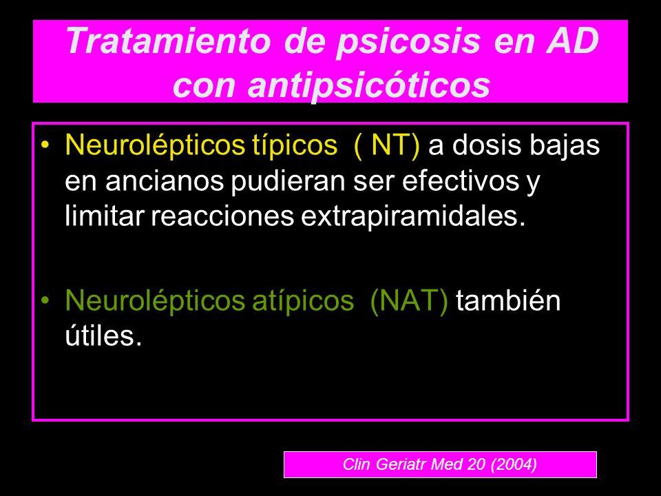Tratamiento de psicosis en AD con antipsicóticos