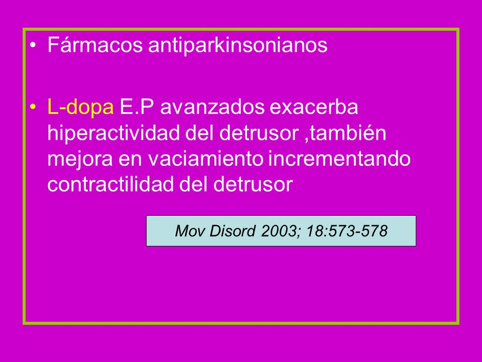 Fármacos antiparkinsonianos