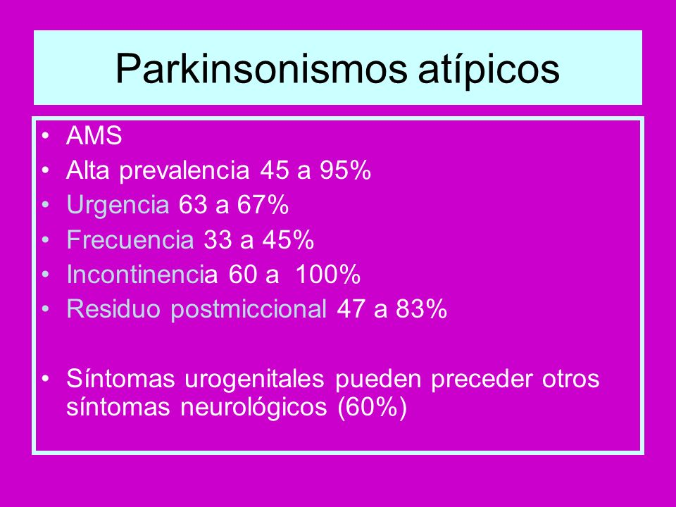 Parkinsonismos atípicos