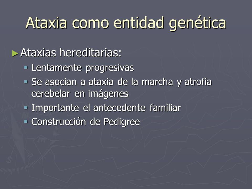 Ataxia como entidad genética