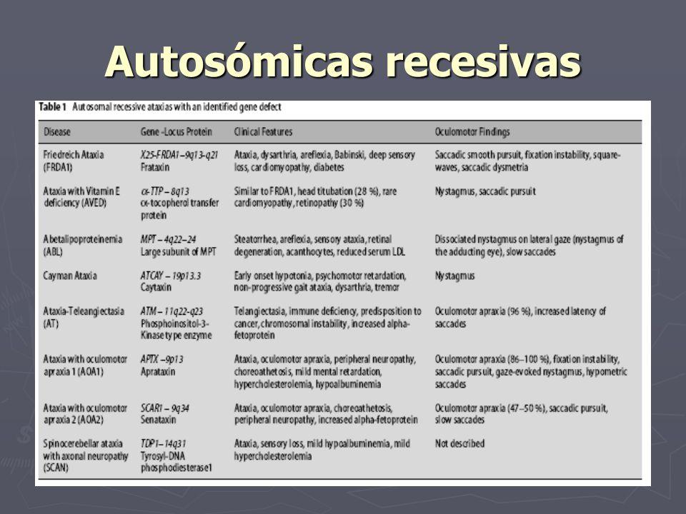 Autosómicas recesivas
