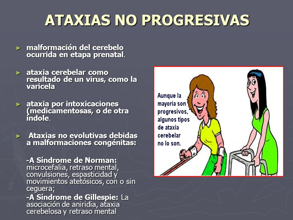 ATAXIAS NO PROGRESIVAS