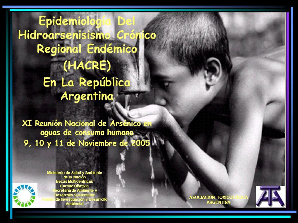 Epidemiología Del Hidroarsenisismo Crónico Regional Endémico