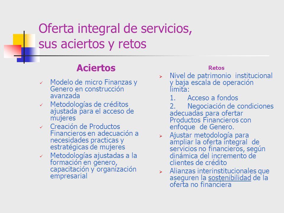 Oferta integral de servicios, sus aciertos y retos