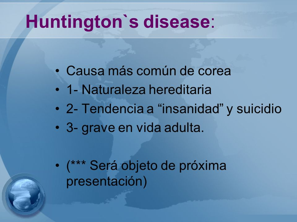 Huntington`s disease: