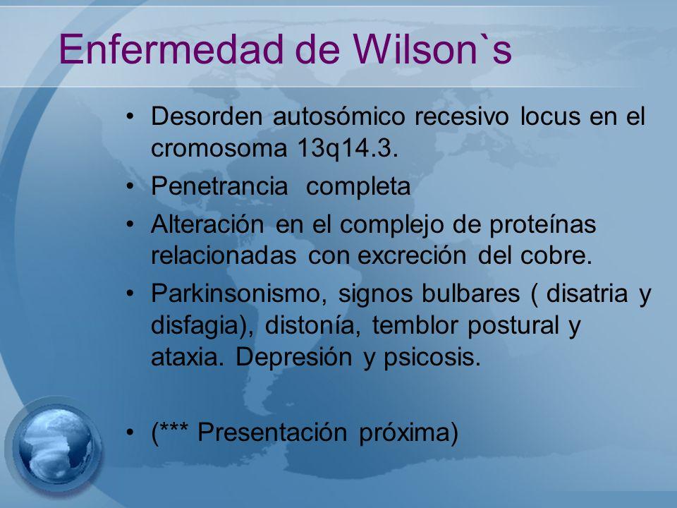 Enfermedad de Wilson`s