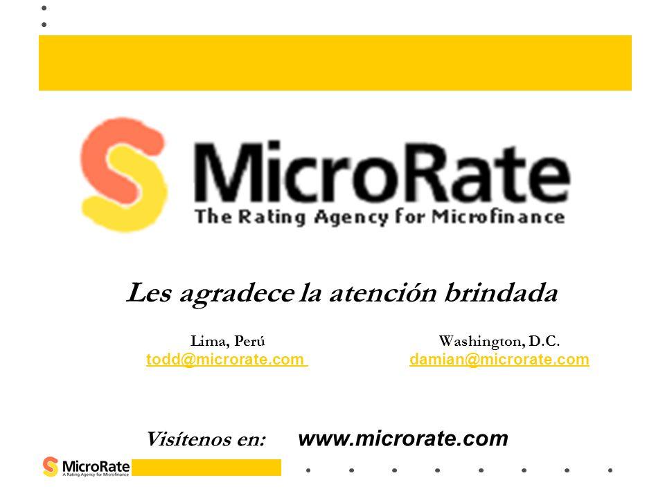 Les agradece la atención brindada Visítenos en: www.microrate.com