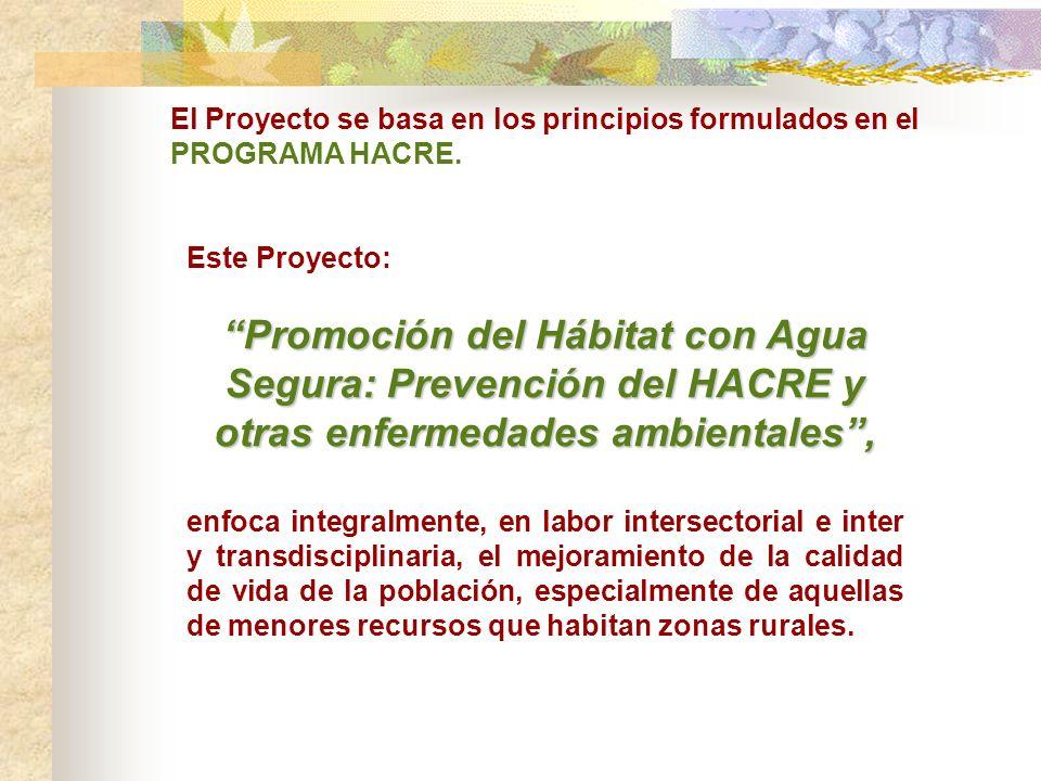 El Proyecto se basa en los principios formulados en el PROGRAMA HACRE.