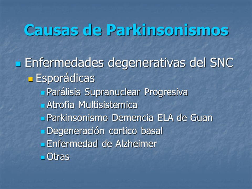 Causas de Parkinsonismos