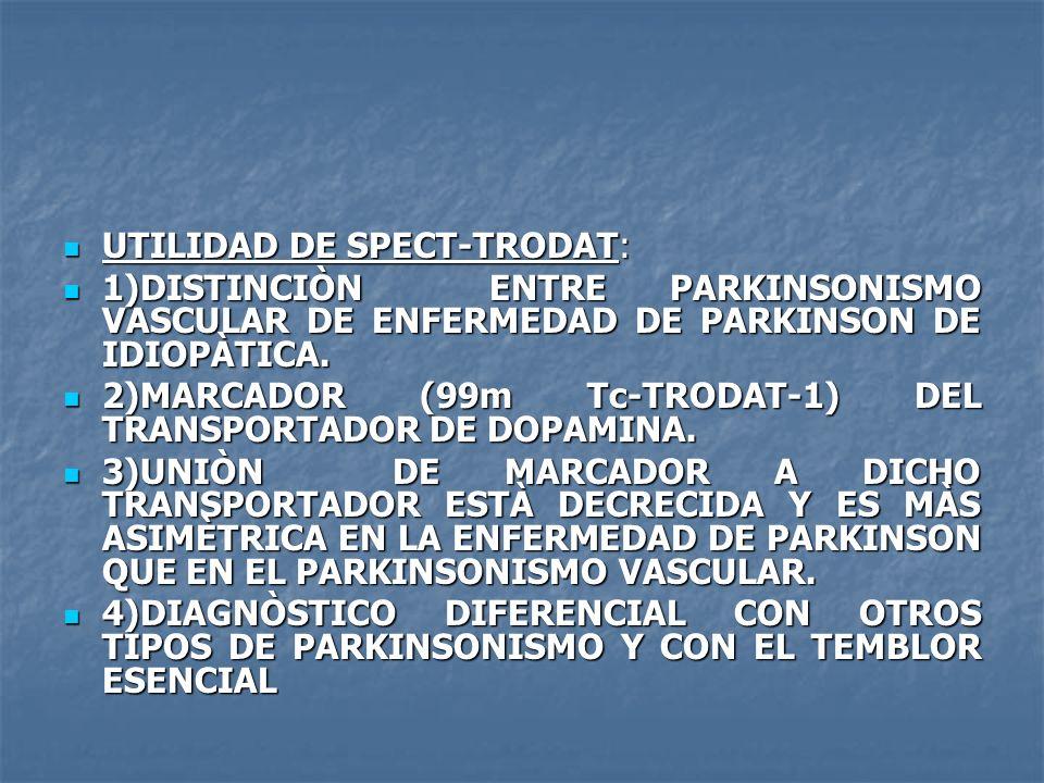 UTILIDAD DE SPECT-TRODAT: