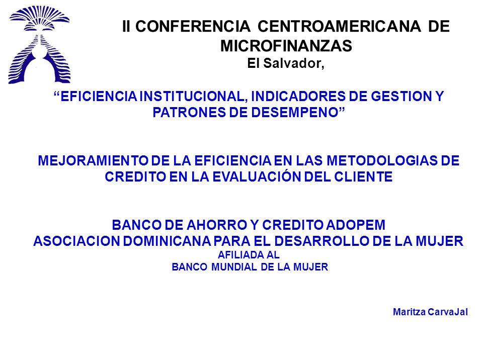 II CONFERENCIA CENTROAMERICANA DE MICROFINANZAS