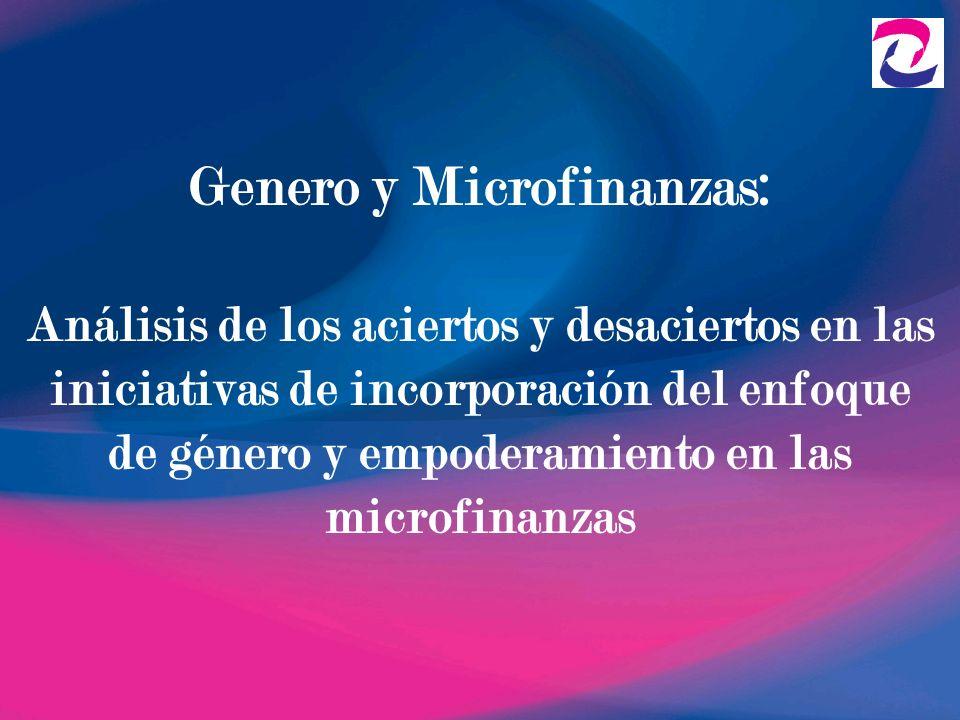 Genero y Microfinanzas: