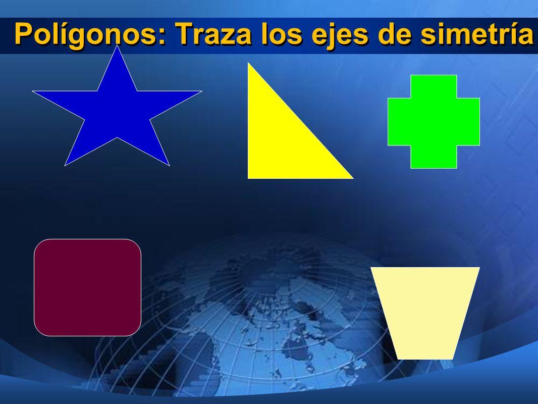 Polígonos: Traza los ejes de simetría
