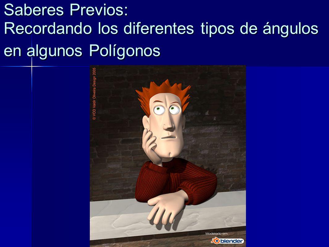 Saberes Previos: Recordando los diferentes tipos de ángulos en algunos Polígonos