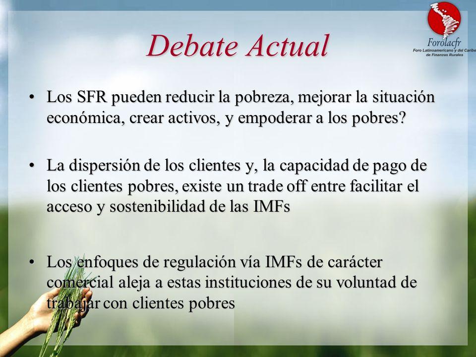 Debate Actual Los SFR pueden reducir la pobreza, mejorar la situación económica, crear activos, y empoderar a los pobres