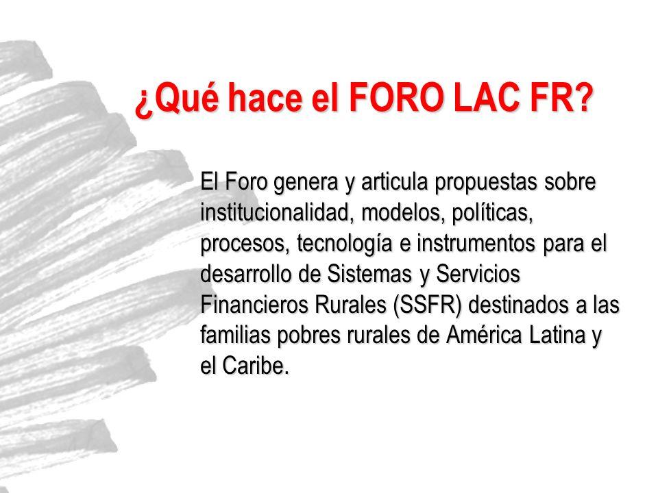 ¿Qué hace el FORO LAC FR