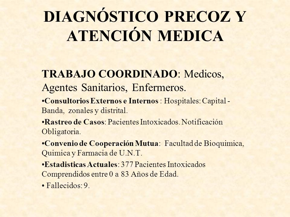 DIAGNÓSTICO PRECOZ Y ATENCIÓN MEDICA