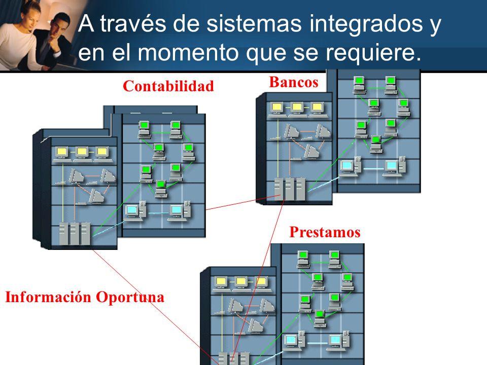 A través de sistemas integrados y en el momento que se requiere.