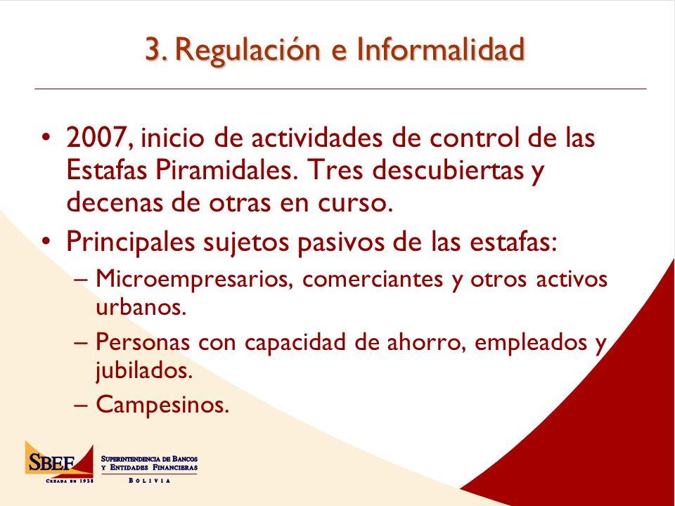 3. Regulación e Informalidad
