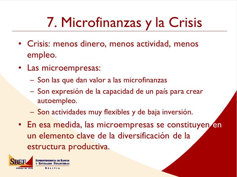 7. Microfinanzas y la Crisis