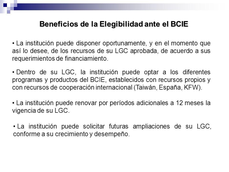 Beneficios de la Elegibilidad ante el BCIE