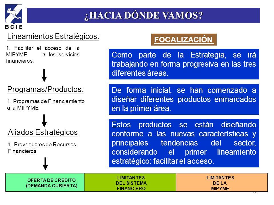 ¿HACIA DÓNDE VAMOS Lineamientos Estratégicos: FOCALIZACIÓN