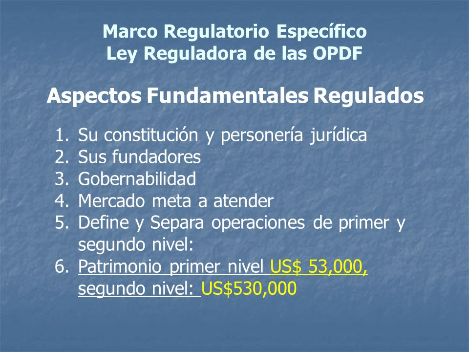 Aspectos Fundamentales Regulados
