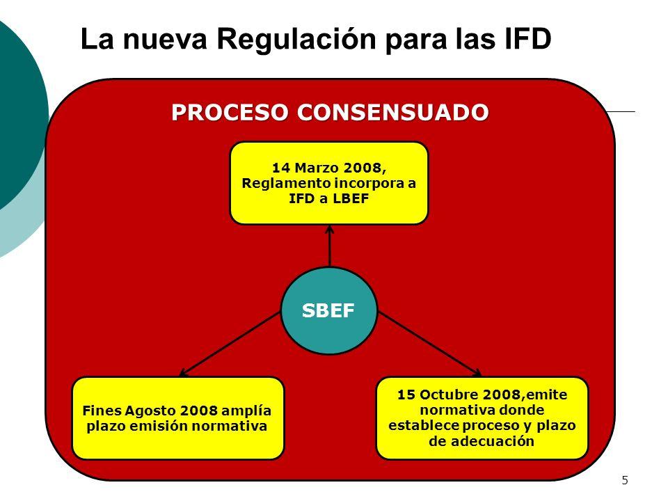 La nueva Regulación para las IFD