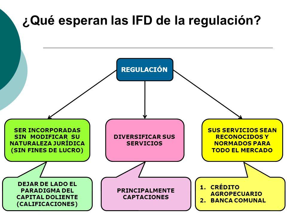 ¿Qué esperan las IFD de la regulación