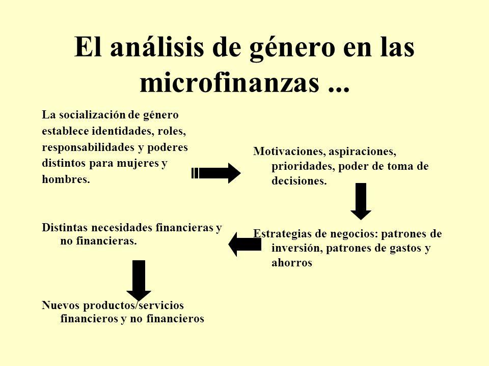 El análisis de género en las microfinanzas ...