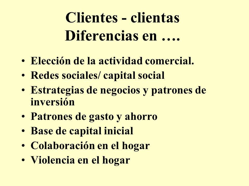 Clientes - clientas Diferencias en ….