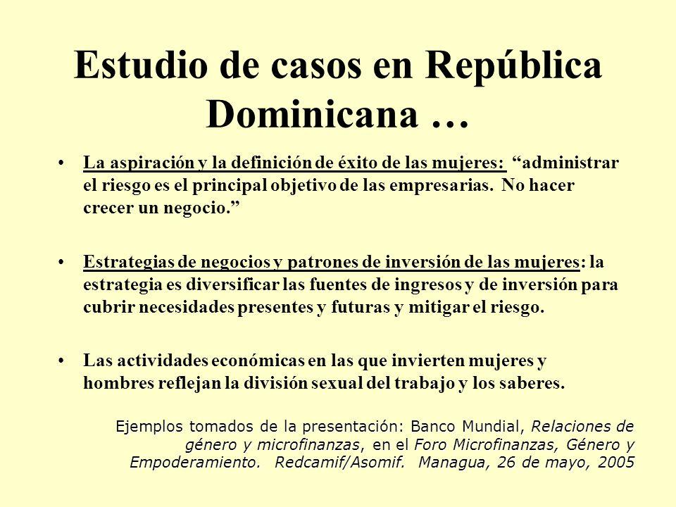 Estudio de casos en República Dominicana …