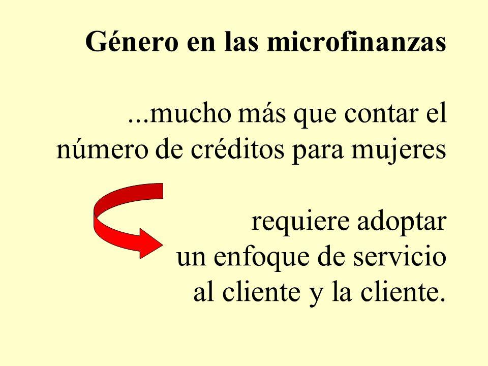 Género en las microfinanzas